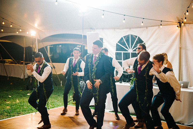 This is How They Do It!   The Groom and His Guys Show Their Moves On the Dance Floor to Get the Party Started.