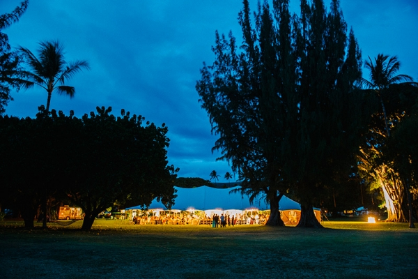 Large Tent on The Back Lawn of the Waimea Plantation Cottages, Kauai