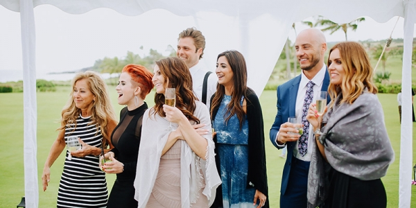 What's A Wedding Without Happy, Supportive Guests Cheering Your Arrival?