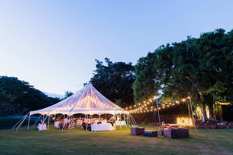 Starry Lights Twinkle Above A Clear Top Tent As Guests Enjoy Dining With Clear Skies