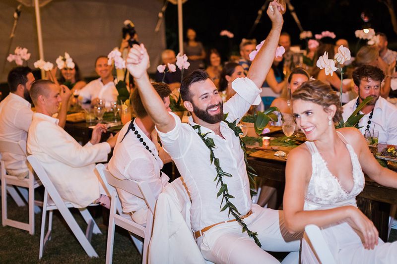 Priceless Reaction to a Funny, Heartfelt Toast to the Bride and Groom