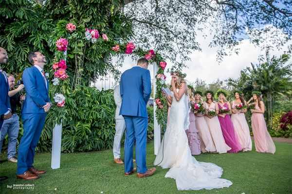 Tender and Heartfelt Moments Captured As Bridal Party React to Wedding Ceremony