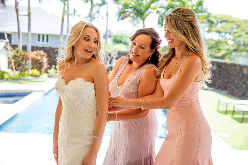 That Special Moment When Mom Helps Bride Get Dressed