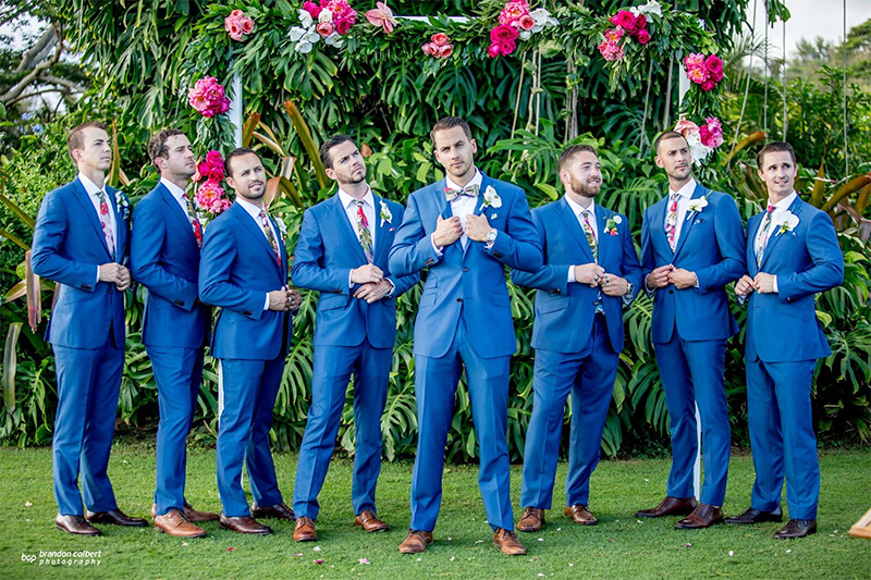 Having Your Closest Together In One Place Is Special, And Will Happen Only Once.   Capture Those Special Moments as the Groom and Groomsmen Pose For A Classic Portrait.