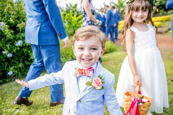 Incoming!   We Love This Shot of a HAPPY Ring Bearer.    If You're Not Smiling on Your Wedding Day, You're Doing it Wrong!