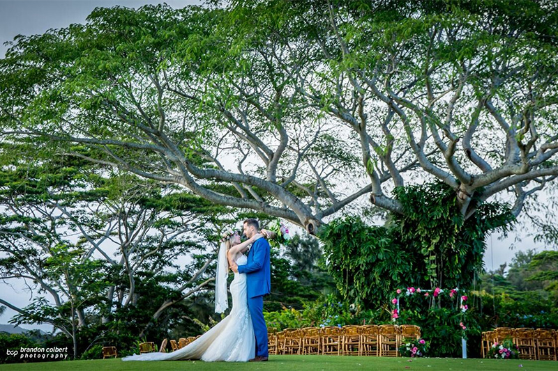 When It Comes To the Look and Feel of Your Wedding, Choosing The Perfect Locale Can Make A World of Difference.   This Couple Chose The Farm at Kukuiula, Kauai